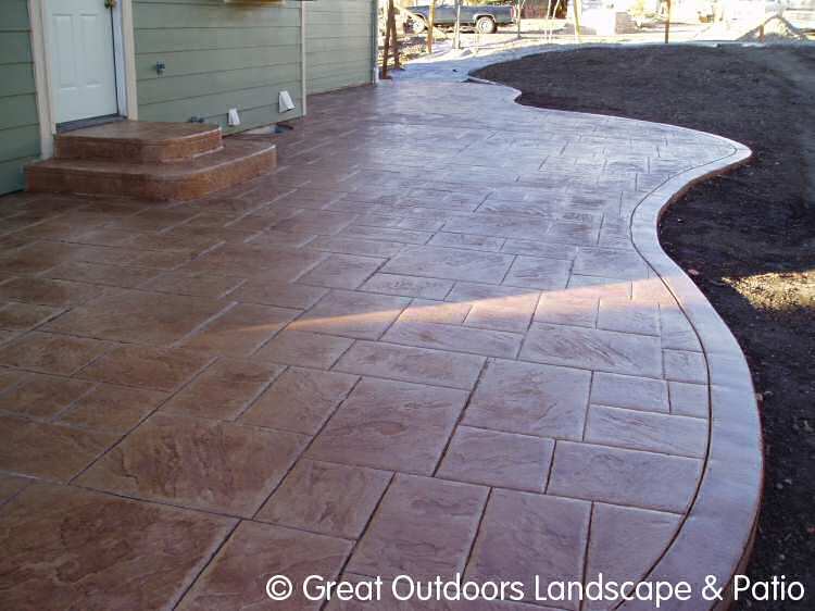 Denver colorado landscaping concrete patios more - Concrete backyard design ...