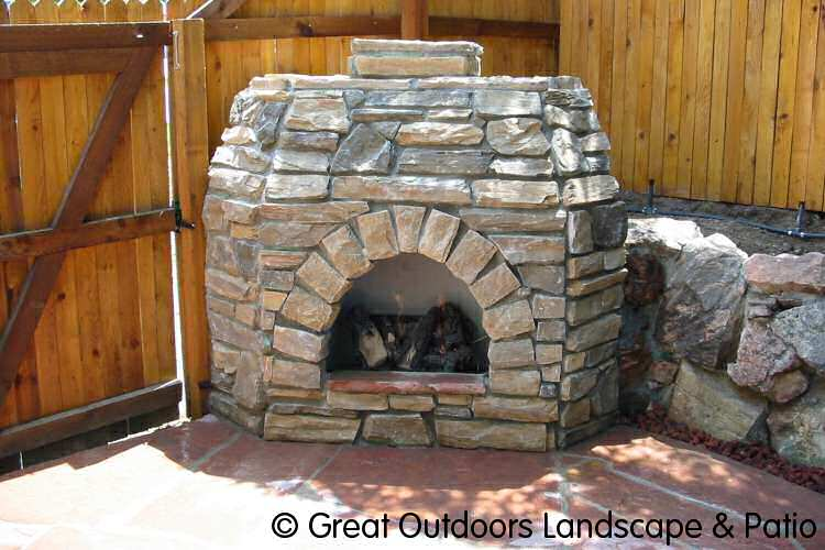 Outdoor grill fireplaces building plans grill outdoor for How to build a small outdoor fireplace
