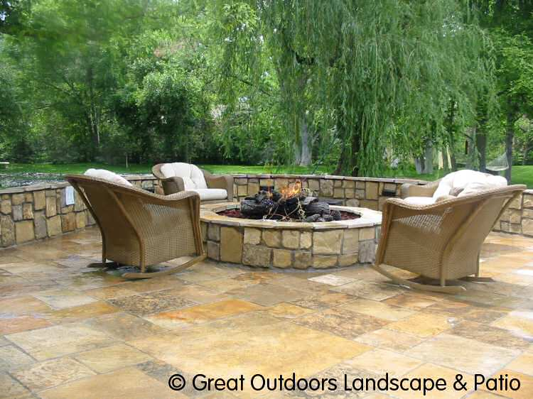 1000 images about fire pit on pinterest flagstone patio for Different patio designs